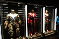 Various Iron Man suits used throughout the movies.