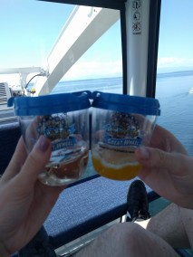 Drinking in our Great Wheel sippy cups. Cheers!